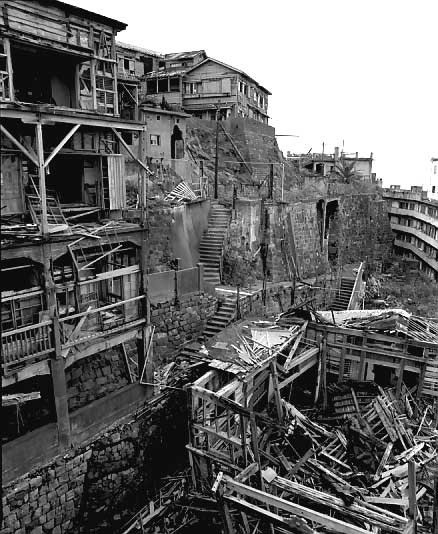 Hashima Island is truly an eerie abandoned place.