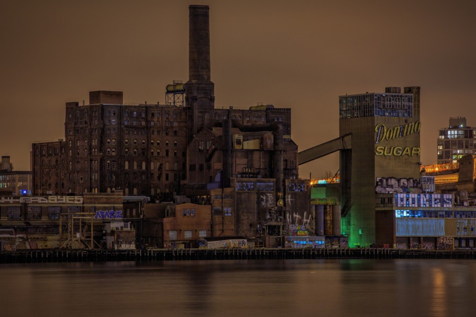 The Domino Sugar Refinery is truly an eerie abandoned place.