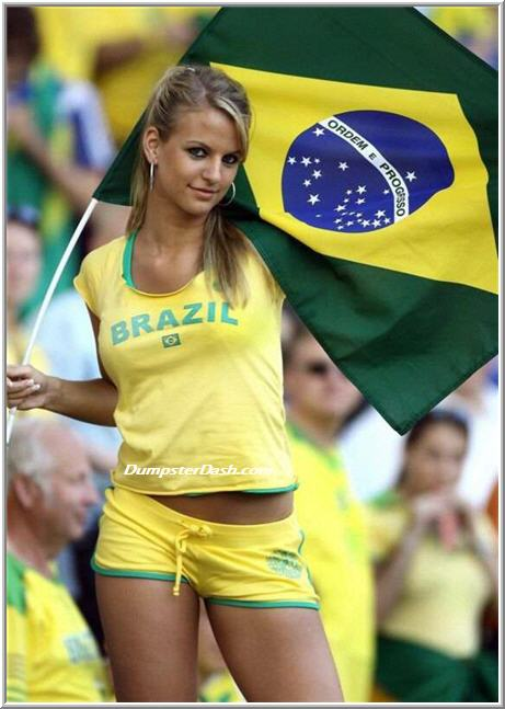 Hot World Cup fans from Brazil.