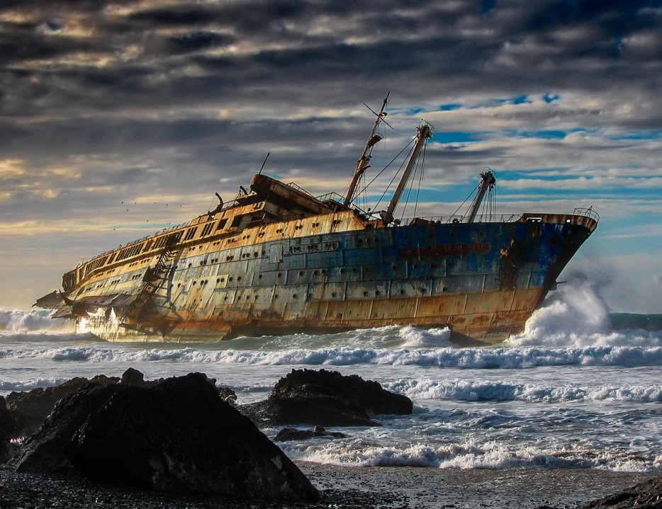 The SS America is truly an eerie abandoned place.