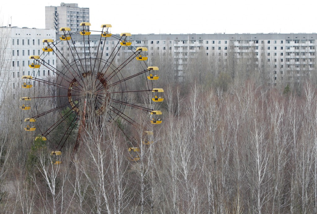 Pripyat in northern Ukraine is a creepy abandoned place.