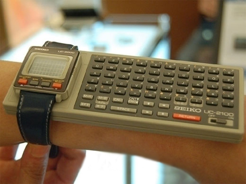 1980s inventions included the Seiko wrist computer