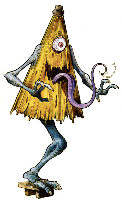Kasa obake is one of the mythological creatures that defy description.