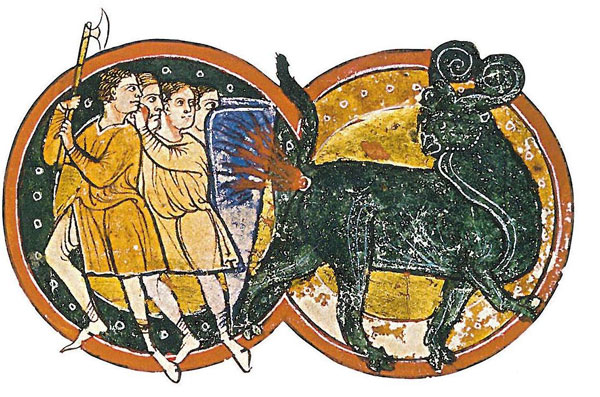 The Bonnacon is one of the mythological creatures that defy description.