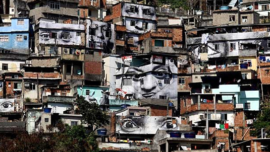 The Favelas are home to much crime in dangerous Brazil.
