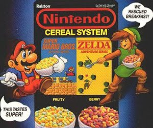 Mario and Zelda cereal is an example of Weird Zelda Mario Crossovers