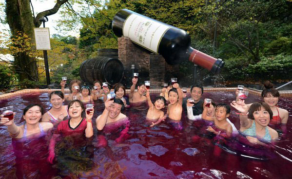 Yunessun spa resort in Japan is one of the strangest tourist attractions in the world.