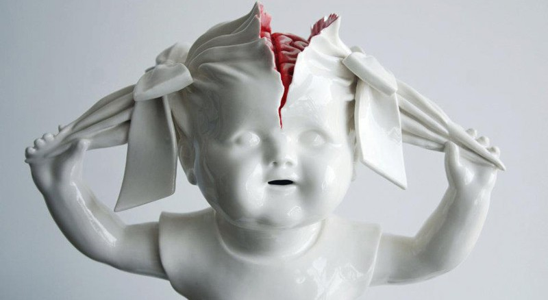 Maria Rubinke's sculptures are the most disturbing pieces of art.