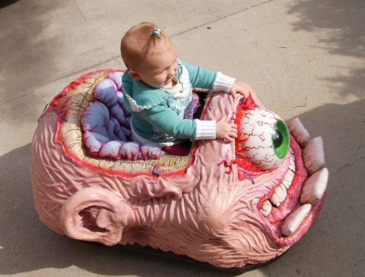 Creepy toy car with one eye - 10 Creepiest Toys Ever Created