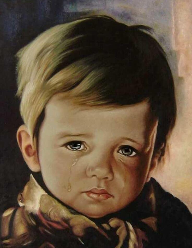 The Crying Boy Painting is a cursed object.