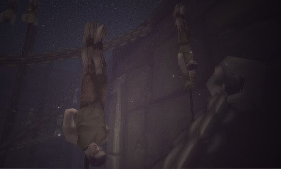 One of the creepy video game glitches!