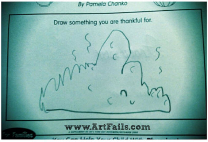 A child's drawing of a pile of poop - 22 Inappropriate Children's Drawings That Will Make You Laugh
