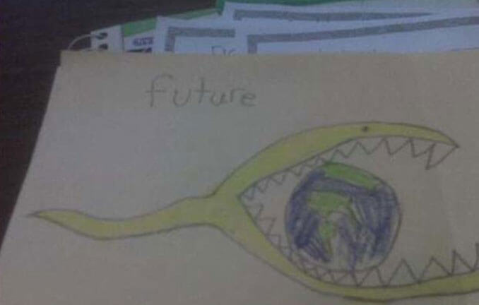 A child's drawing of the future - 22 Inappropriate Children's Drawings That Will Make You Laugh