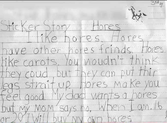 A child's story about horses - 22 Inappropriate Children's Drawings That Will Make You Laugh