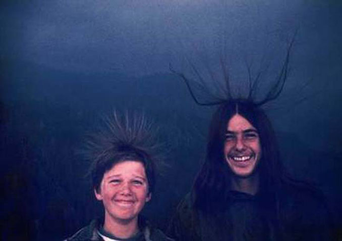Michael and Sean McQuilken moments before a lightning strike - 20 Shocking Weather Facts You Probably Don't Know
