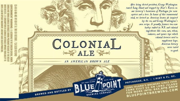 Colonial Ale is a beer based on George Washington's favourite beer recipe. Such an awesome beer fact.
