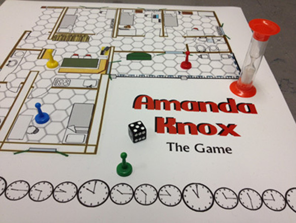 This weird board game is based on the Amanda Knox murder case