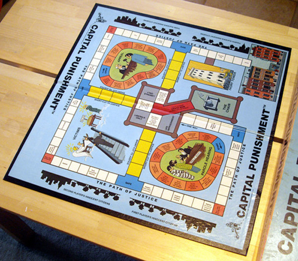 This weird and offensive board game is called Capital Punishment