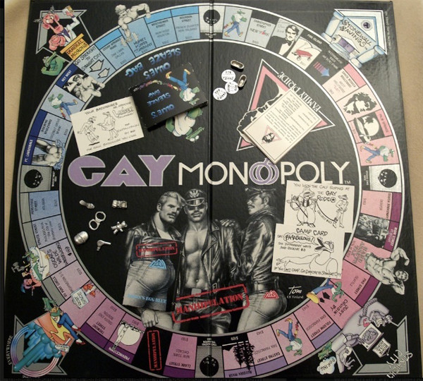 This weird board game is called gay monopoly
