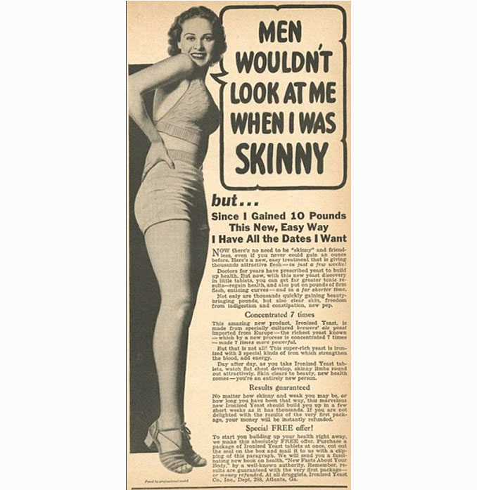 Weight gain pills advertisement - 10 Shocking Vintage Ads You Have To See To Believe