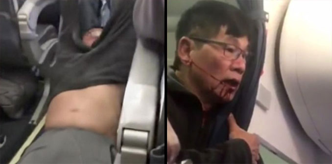 Dr Dao being forcibly removed from a United Airlines flight - 10 Worst Business Decisions Ever Made