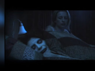 This is the climactic scene in a scary short film called Bedfellows. It's a scary short film about what lurks in your bed at night. So creepy