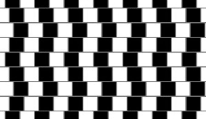 Parallel lines optical illusion.
