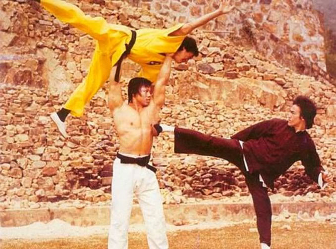 Bruce Lee, Bolo Yeung and Jackie Chan.
