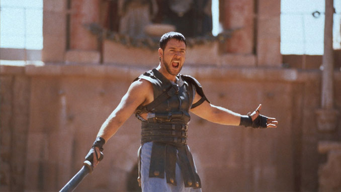 Russell Crowe in the movie Gladiator.