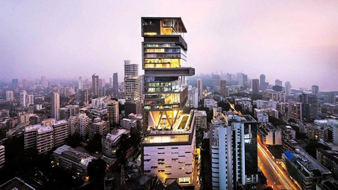 Antilia in Mumbai, India is the world's most expensive house.
