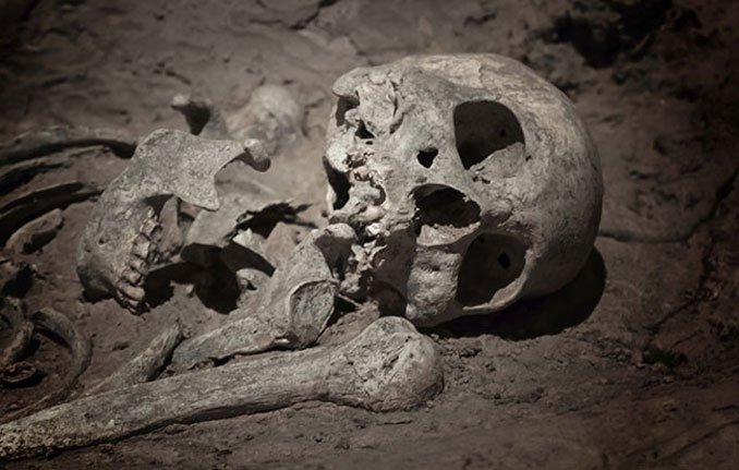 Helen Weisensel of Jefferson County, Wisconsin discovered an ancient burial ground under her house.