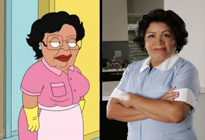 Consuela the maid and Zoila the maid.