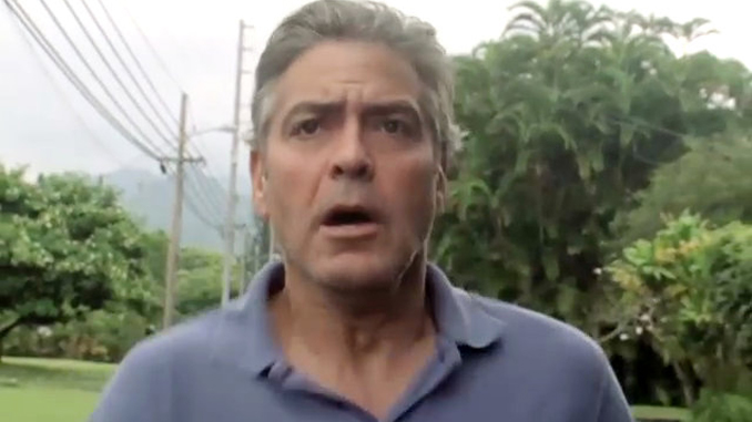 George Clooney has been permanently injured on the set of one of his films.