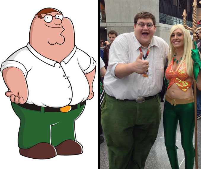 Peter Griffin and Robert Franzese.