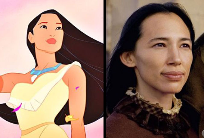 Pocahontas and Irene Bedard.