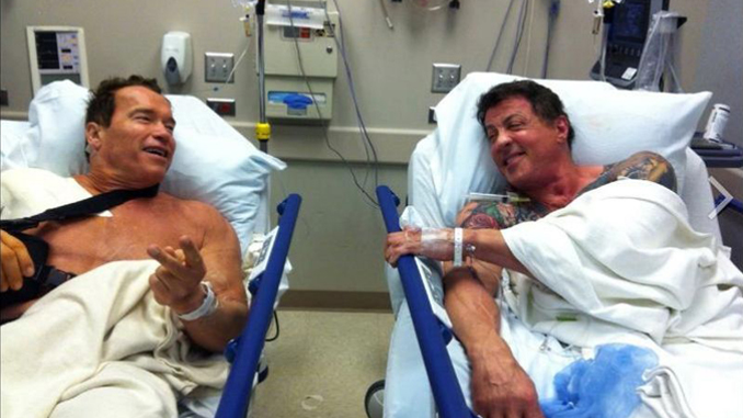 Sylvester Stallone was permanently injured on the set of Expendables.