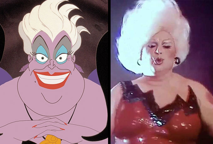 Ursula The Sea Witch and Divine.