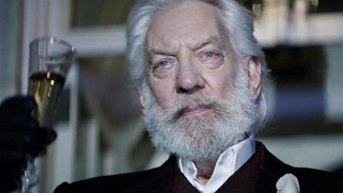 Donald Sutherland nearly died on the set of a movie.