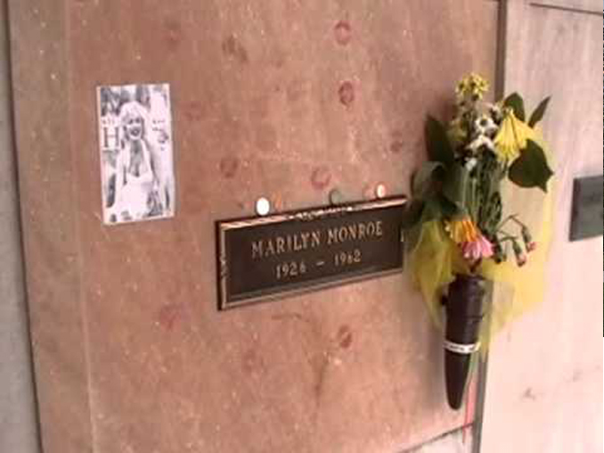 Hugh Hefner's memorial next to Marilyn Monroe.