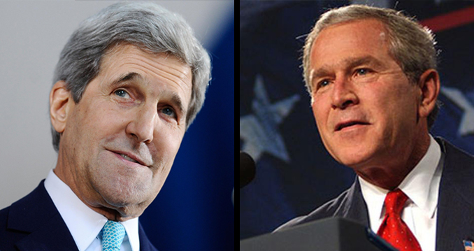 Hugh Hefner was related to John Kerry and George W. Bush.