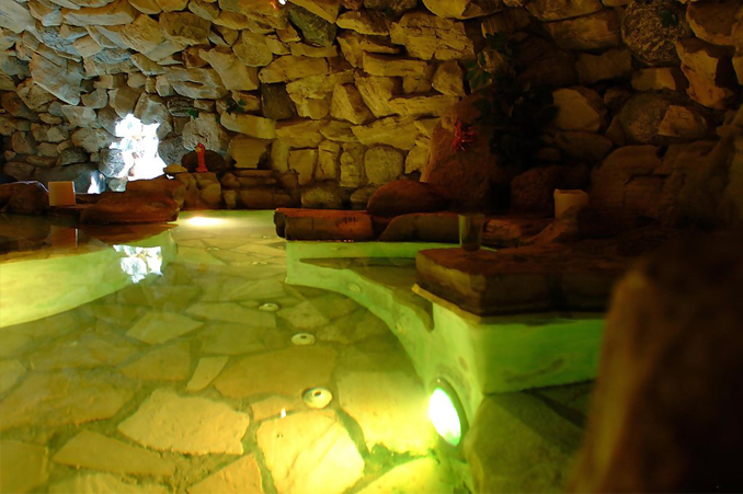 The grotto at the L.A. Playboy Mansion.