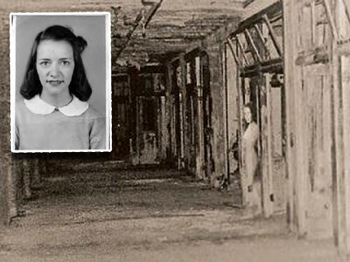 This is one of many real, creepy photos, this one depicts the ghost of Mary Lee in the Waverly Hills Sanatorium.