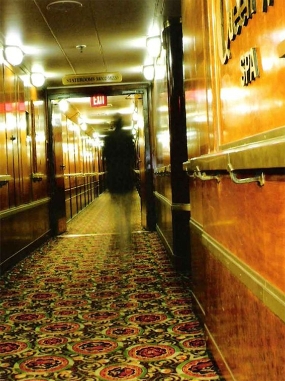 Shadow people are often seen on board the Queen Mary ship.