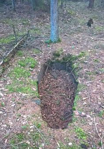 Empty grave discovered in the woods - 10 Strangest Things Ever Found in the Woods