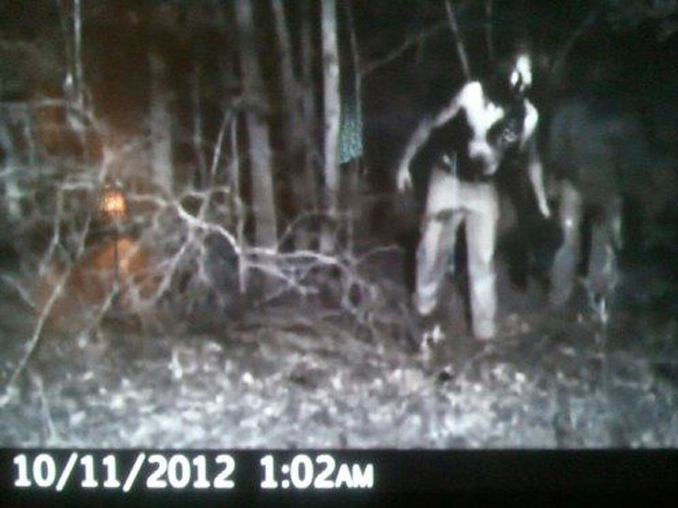 Zombie caught on trail camera - 10 Trail Camera Photos That Cannot Be Explained