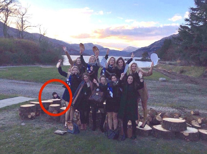 Ghost boy in hen's party photo - 10 Photos of Ghost Children That Have Everyone Scared