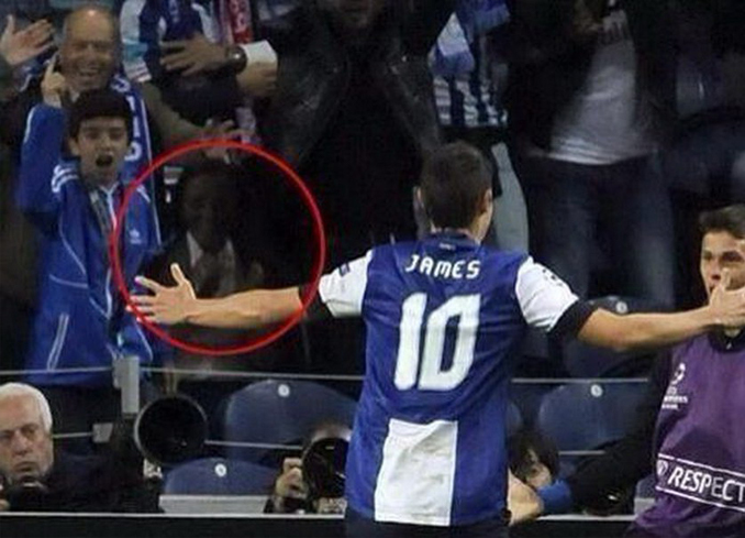 Strange ghost spotted at a football match is one of many real photos that have left skeptics stumped.