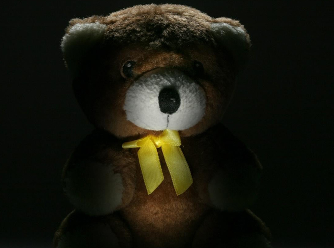 A creepy teddy bear - 10 Terrifying Things Caught on Baby Monitors