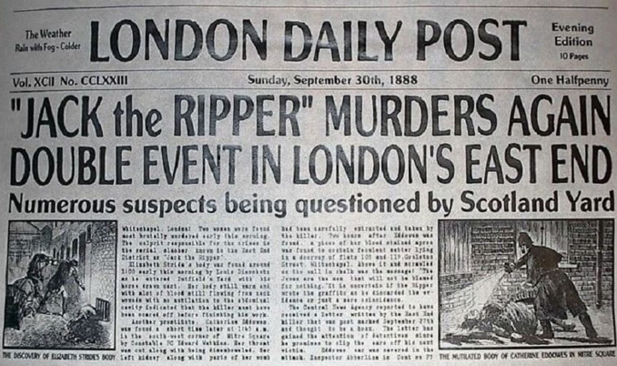 Jack The Ripper is one of many Notorious Serial Killers Who Were Never Caught