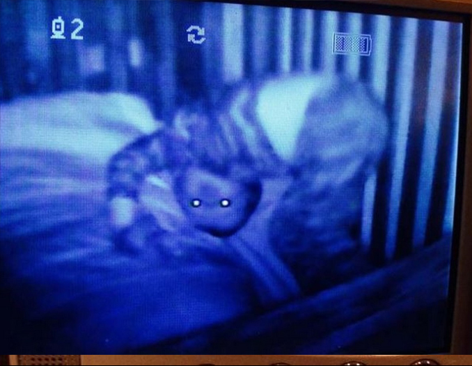Creepy child caught on baby monitor - 10 Terrifying Things Caught on Baby Monitors